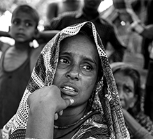 Jalimunnisha, a resident of Khotahi village of Kushinagar district in U.P., India, lost two of her sons overnight. Encephalitilis had taken a toll in village she lived and more than a dozen families are agrieved as her. It's not easy for them to overcome this shock.